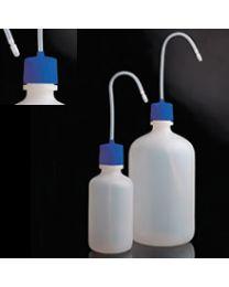 Bottiglie lavabili con tappo blu