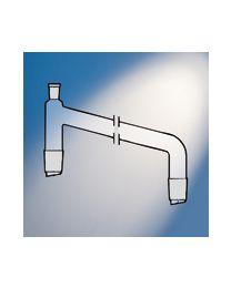 Pezzo per distillazione con giunti verticali con ingresso per termometro