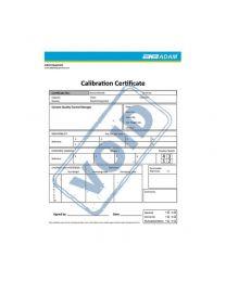 Certificato di calibrazione Adam