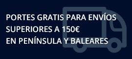 Portes gratis para envíos superiores a 150€ en Península y Baleares